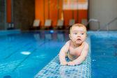 Boy in the pool. — Stock Photo