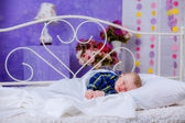 Cute sleeping baby — Stock Photo