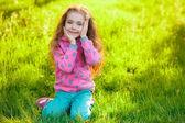 Pretty girl in park. — Stock Photo