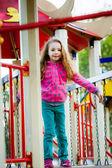 Girl on the playground — Stock Photo