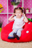 Adorable girl in the nursery. — Stock Photo