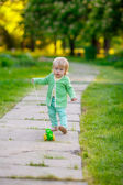 Child playing  in the park — Stock Photo