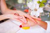 Spa treatments for hands — Stock Photo