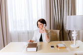 Woman in the working place — Stock Photo