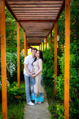 Pregnant woman with her husband — Stockfoto