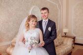 Happy newlyweds — Стоковое фото
