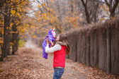 Mother and daughter walking in the park. — Stock Photo
