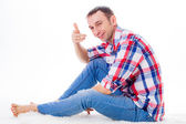 Man in jeans — Stock Photo