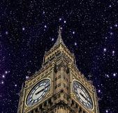 лондон, биг-бен с красивым небом — Стоковое фото