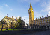 European Parliament UK Office and Big Ben view from inside Westm — Stock Photo
