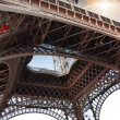 Detail from the bottom of the eiffel tower — Stock Photo #24984177