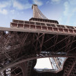 Stock Photo: Imposing Eiffel Tower view from below