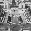 Stock Photo: View from Eiffel Tower from Trocadero gardens
