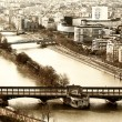 View from the Eiffel tower bridge Bir-Hakein and islet on the ri — Stock Photo #24984423