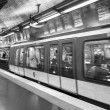 Stock Photo: PARIS, NOVEMBER 27: subway train departing, november 27, 201