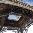 Detail from the bottom of the eiffel tower — Stock Photo #25017241