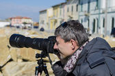 PISA, ITALY - FEB 16: Unknown photographer captures the image of — Stock Photo