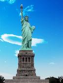 纽约,君 13: 哈勃入口处的自由女神像 — 图库照片