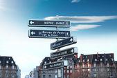 Information skyltning i paris — Stockfoto