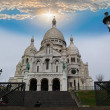 Basilicof Sacred Heart on Montmartre hill — Stock Photo #25750243