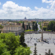 Skyline of rome from Villa Borghese. — Stock Photo