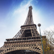 Paris, Nov 27: The Eiffel tower, view from below. — Stock Photo