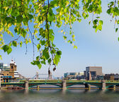 View of Southwark Bridge with Tower Bridge in the background beh — Stock Photo