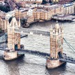 Stock Photo: Aereal view of London Bridge