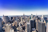 Aereal view of Manhattan, NYC — Stock Photo