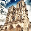 Notre Dame Cathedral Facade in Paris — Stock Photo