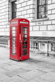 English call box in London — Stock Photo