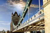 View from the bottom of the Tower Bridge, London — Stock Photo