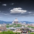 Panorama of Rome and St. Peter Basilica in Vatican — Stock Photo