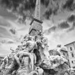 Stock Photo: Fountain of Four Rivers, Rome