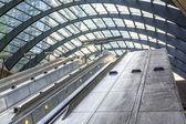 Escalator on Canary Warf Station, London — Stock Photo