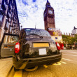 Classic london Taxi — Stock Photo