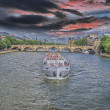 The boat on the Seine — Stock Photo
