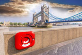 Bepaalde weergave van london bridge — Stockfoto