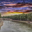 Stock Photo: The Tiber river in Rome