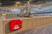 Konkrétní pohled na london bridge — Stock fotografie