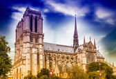 Beautiful view of Notre Dame Cathedral, Paris. — Stock Photo