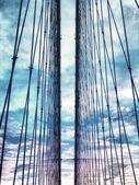 Brooklyn Bridge's cables — Stock Photo