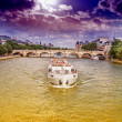 The boat on the Seine — Stock Photo #38215637
