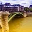 Stock Photo: Bridge on Seine, Paris