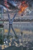 Londyn kolejki linowej — Zdjęcie stockowe