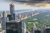 Aereal view of Central Park, NYC — Stock Photo