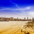 Stock Photo: Different view of London skyline