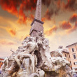 Fountain of Four Rivers, Rome — Stock Photo #40317121