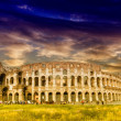 Stock Photo: Colosseum with beautiful sky