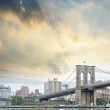 Stock Photo: Brooklyn Bridge with beautiful sky